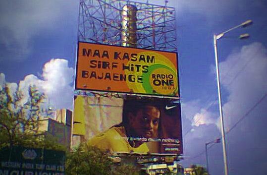 Radio One 94.3 poster in Mumbai