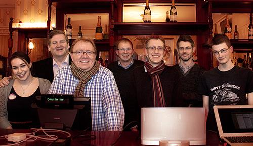 Lou, John, Nik, Steve, James S, James C, Jacob