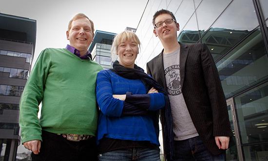 Stuart Barratt, Kate Cocker and Chris Stevens