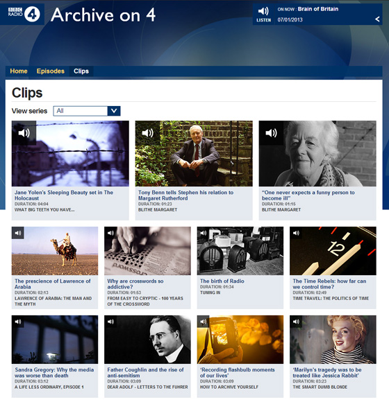 Archive on 4 clips page