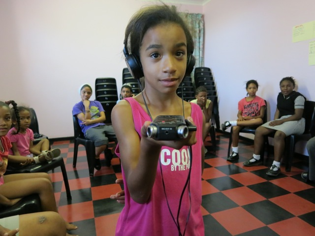 Childrens Radio Foundation girl with mic