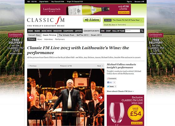 Classic FM Laithwaite's Wine website takeover