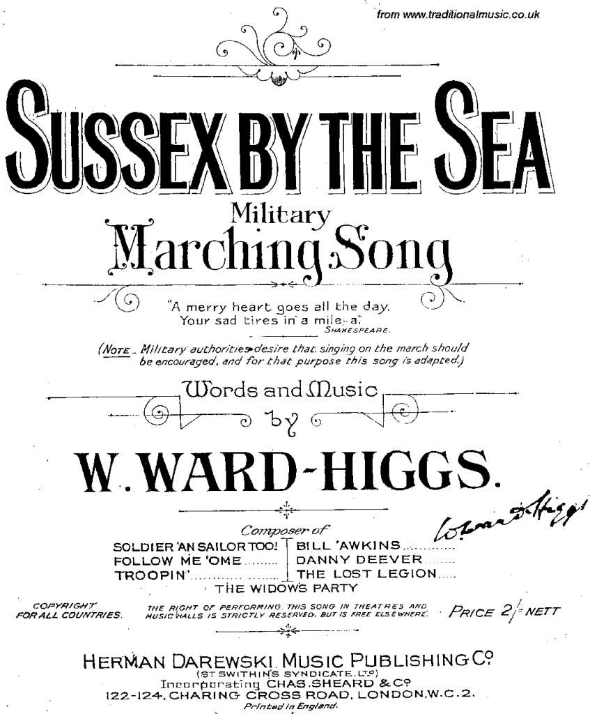Sussex by the Sea score
