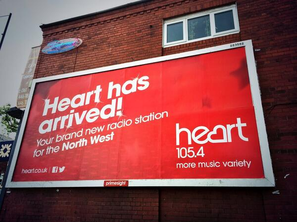Heart has arrived on this billboard