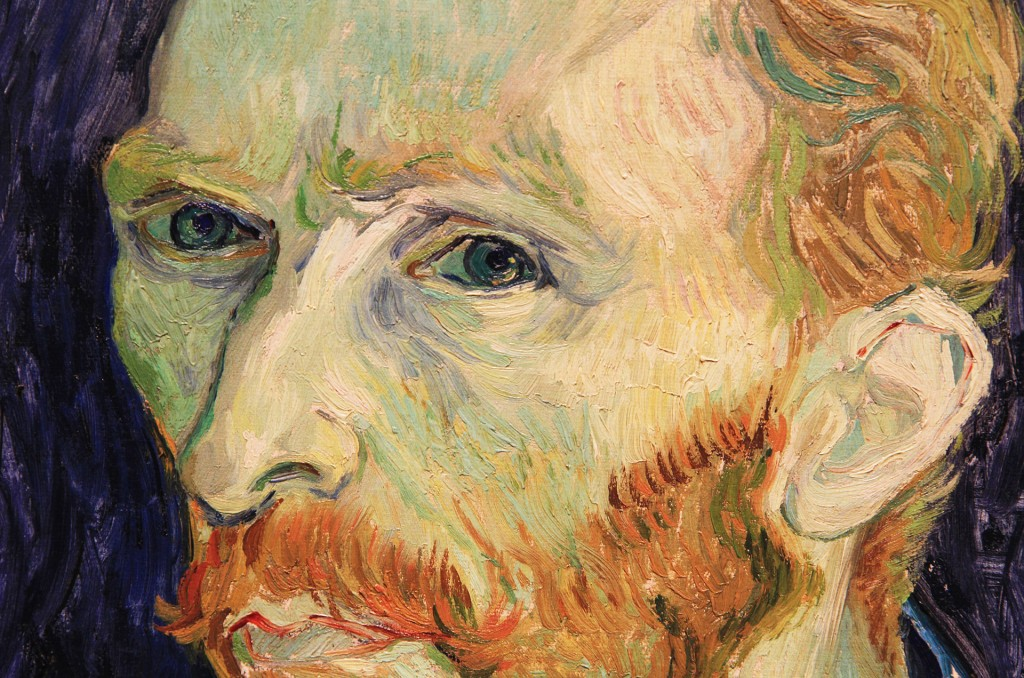 Vincent Van Gough. Self Portrait (detail). Wikimedia Commons.