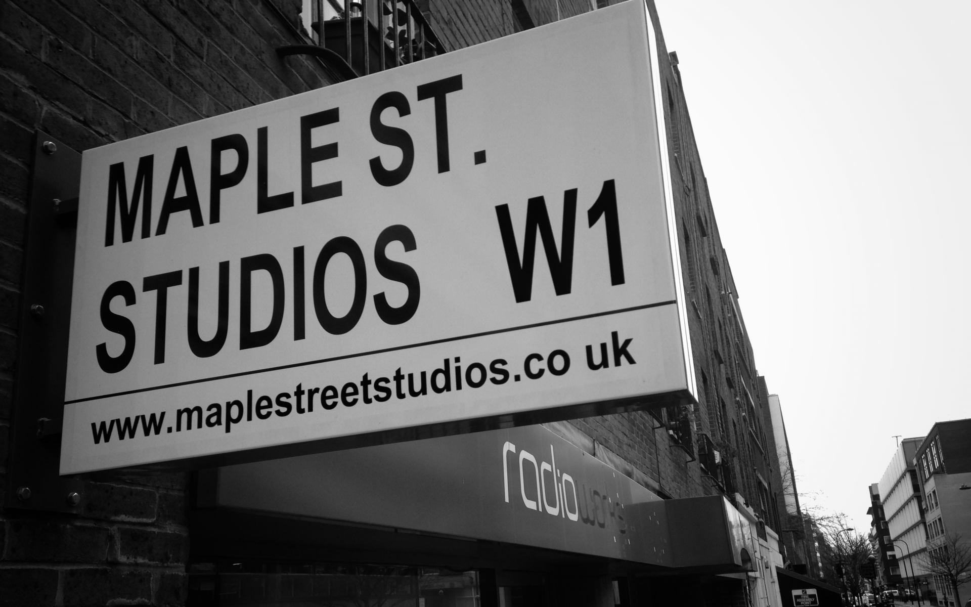 Maple Street Studios sign