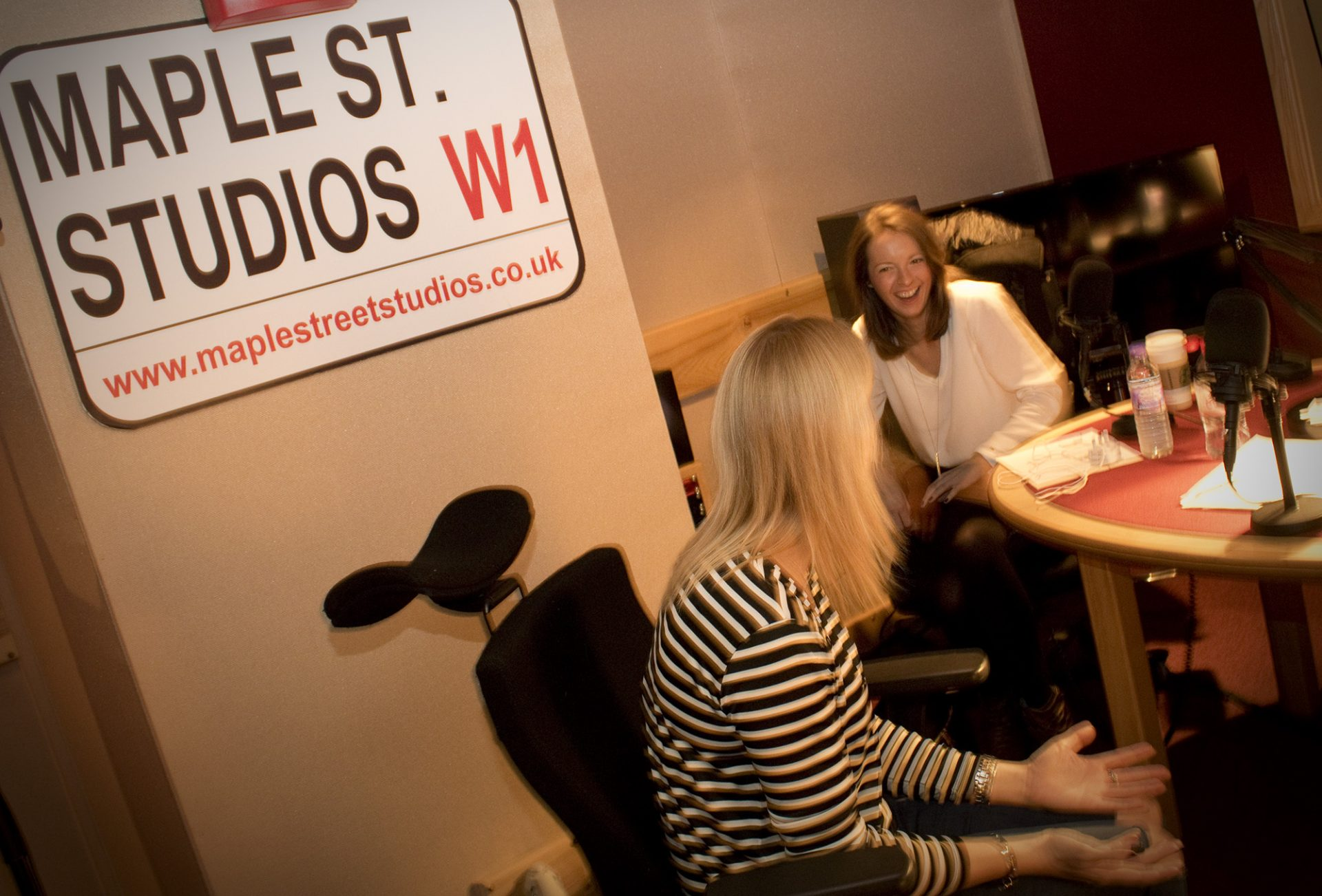 Steph and Laura at Maple Street Studios