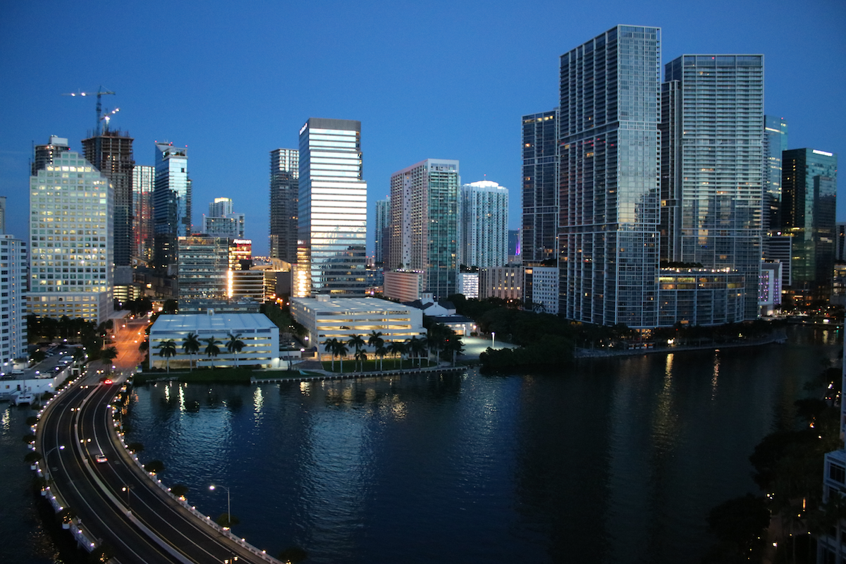 Downtown Miami at dawn