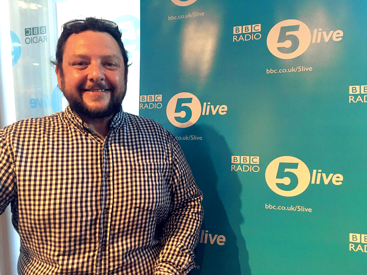 Ollie Raphael at BBC Radio 5 Live