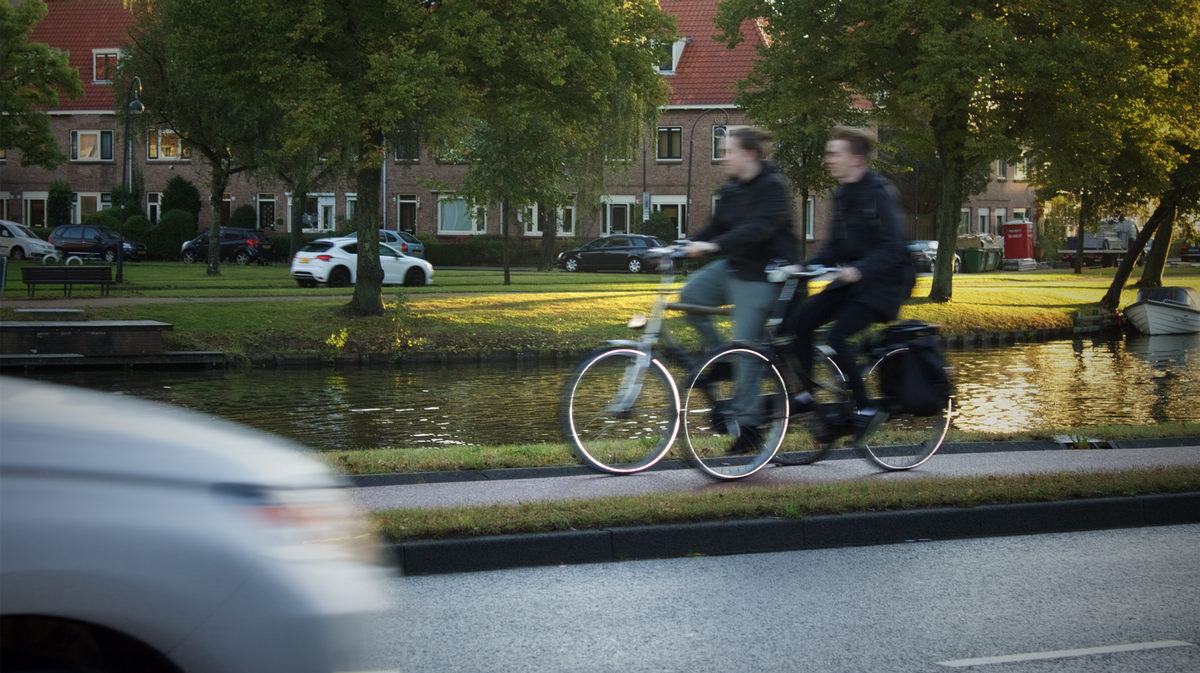 Cyclists in Haarlem